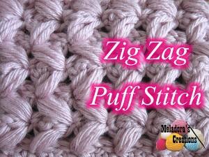 Zig Zag Puff Stitch ~ Meladora's Creations