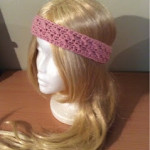 How to Crochet a Cross Stitch Headband by Hooking Is A Lifestyle