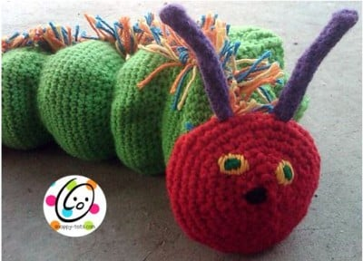 Munching Caterpillar Hand Puppet by Snappy Tots