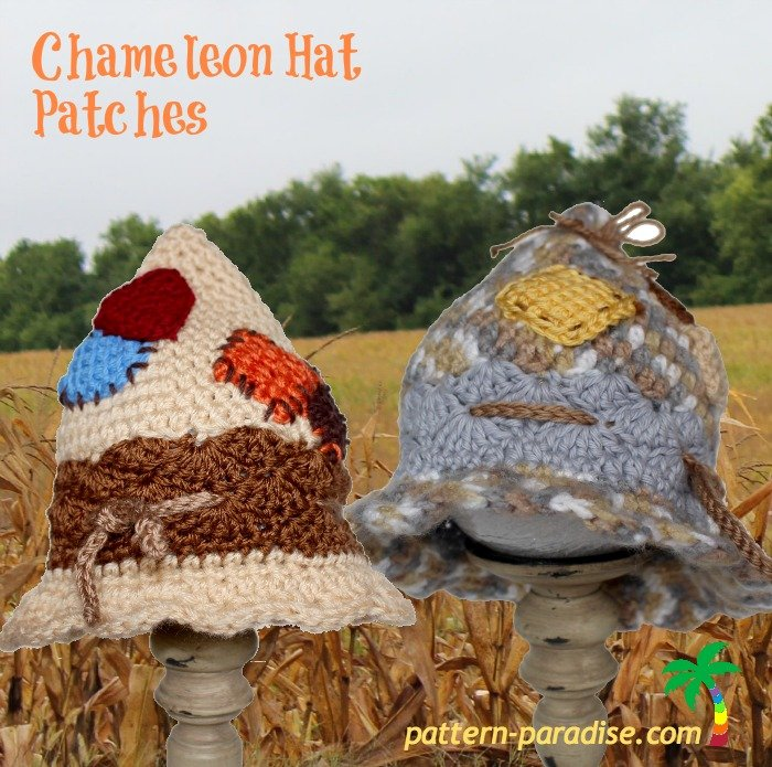 Chameleon Hat - Patches by Pattern Paradise