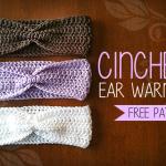 Cinched Ear Warmer Headband by Rebecca Langford of Little Monkeys Crochet