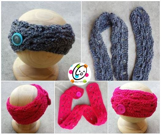 Button Up Headwrap ~ Snappy Tots