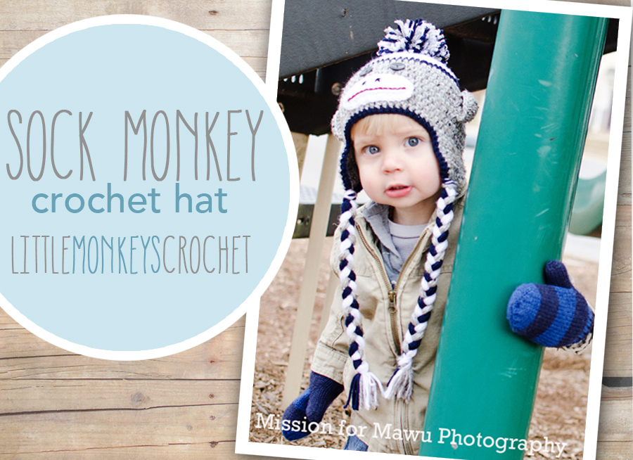 Sock Monkey Hat ~ Rebecca Langford - Little Monkeys Crochet