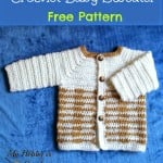 "Crochet Unisex Baby Sweater ""Heartbeat"" ~ My Hobby is Crochet"
