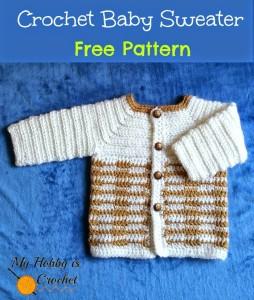 """Crochet Unisex Baby Sweater """"Heartbeat"""" by My Hobby is Crochet"""