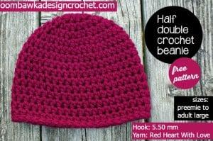 Half Double Crochet Basic Beanie ~ Oombawka Design