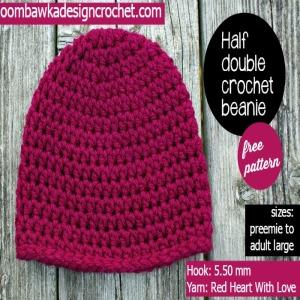 Half Double Crochet Beanie ~ FREE Crochet Pattern