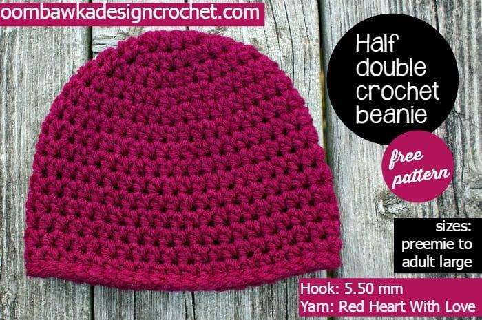 Half Double Crochet Basic Beanie ~ Oombawka Design 98a5f70dbca