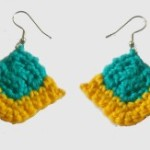 Corner Square Earrings by Candace for Crochet Spot