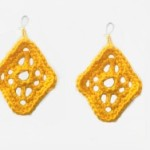 Lacy Diamond Earrings ~ Candace - Crochet Spot