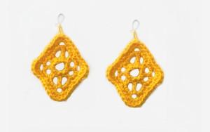 Lacy Diamond Earrings by Candace for Crochet Spot