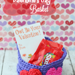 Easy Crochet Valentine's Day Basket ~ The Stitchin' Mommy