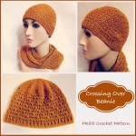 Crossing Over Beanie by Rhelena of CrochetN'Crafts