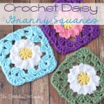 Crochet Daisy Granny Squares by The Stitchin' Mommy