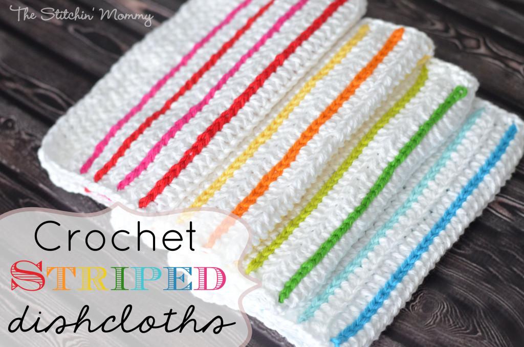 Crochet Striped Dishcloths by The Stitchin' Mommy
