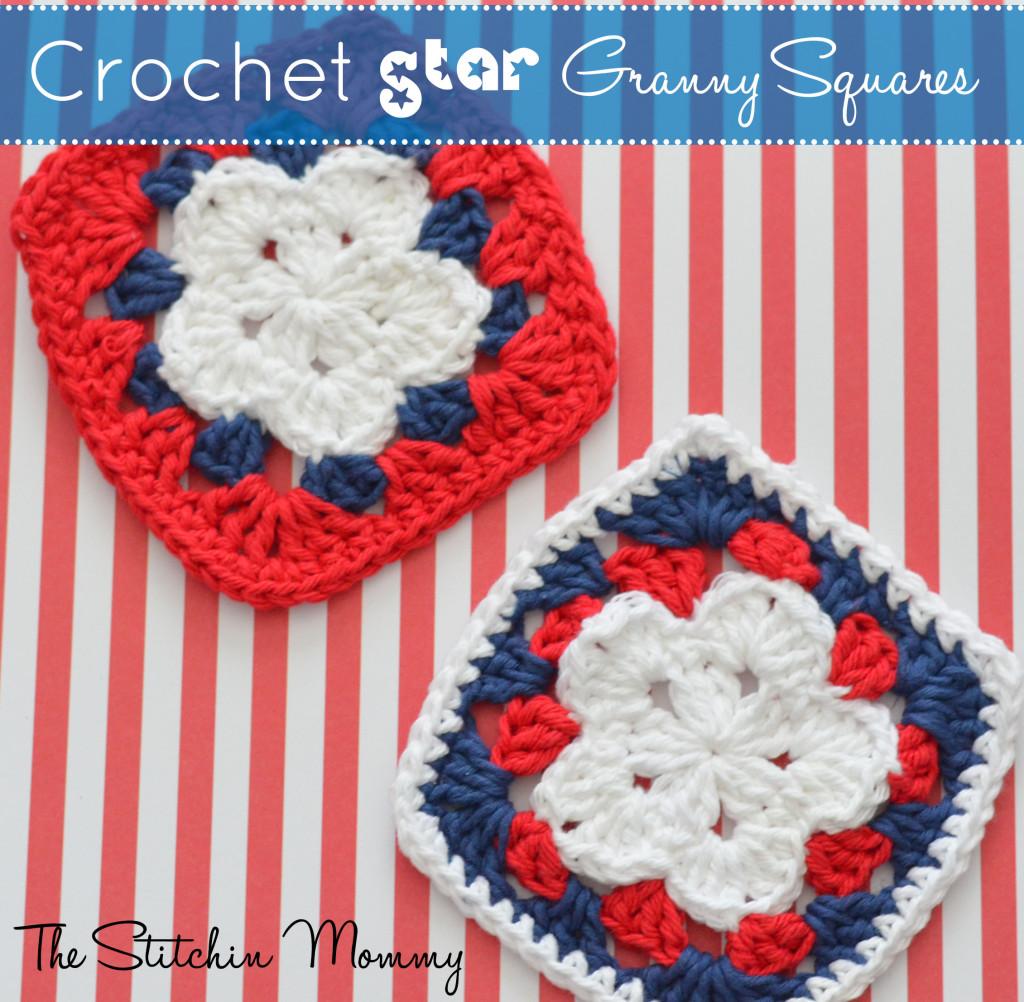 Crochet Star Granny Square ~ The Stitchin' Mommy