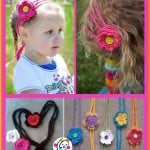 Hearts and Flowers Headband ~ Snappy Tots