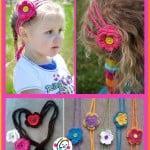 Hearts and Flowers Headband ~ Snappy Tots