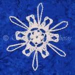 Last Light Snowflake by Snowcatcher