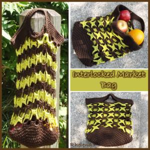 Interlocked Market Bag by Rhelena of CrochetN'Crafts