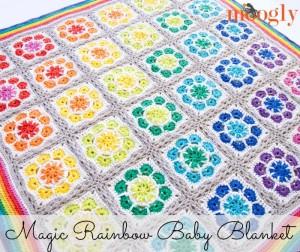 Magic Rainbow Baby Blanket ~ Moogly