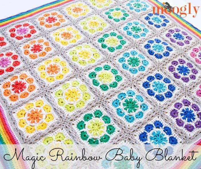 Magic Rainbow Baby Blanket by Moogly