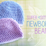 Super Simple Newborn Beanie ~ Rebecca Langford - Little Monkeys Crochet