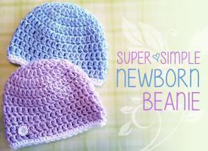 Super Simple Newborn Beanie ~ Rebecca Langford - Little Monkeys Crochet