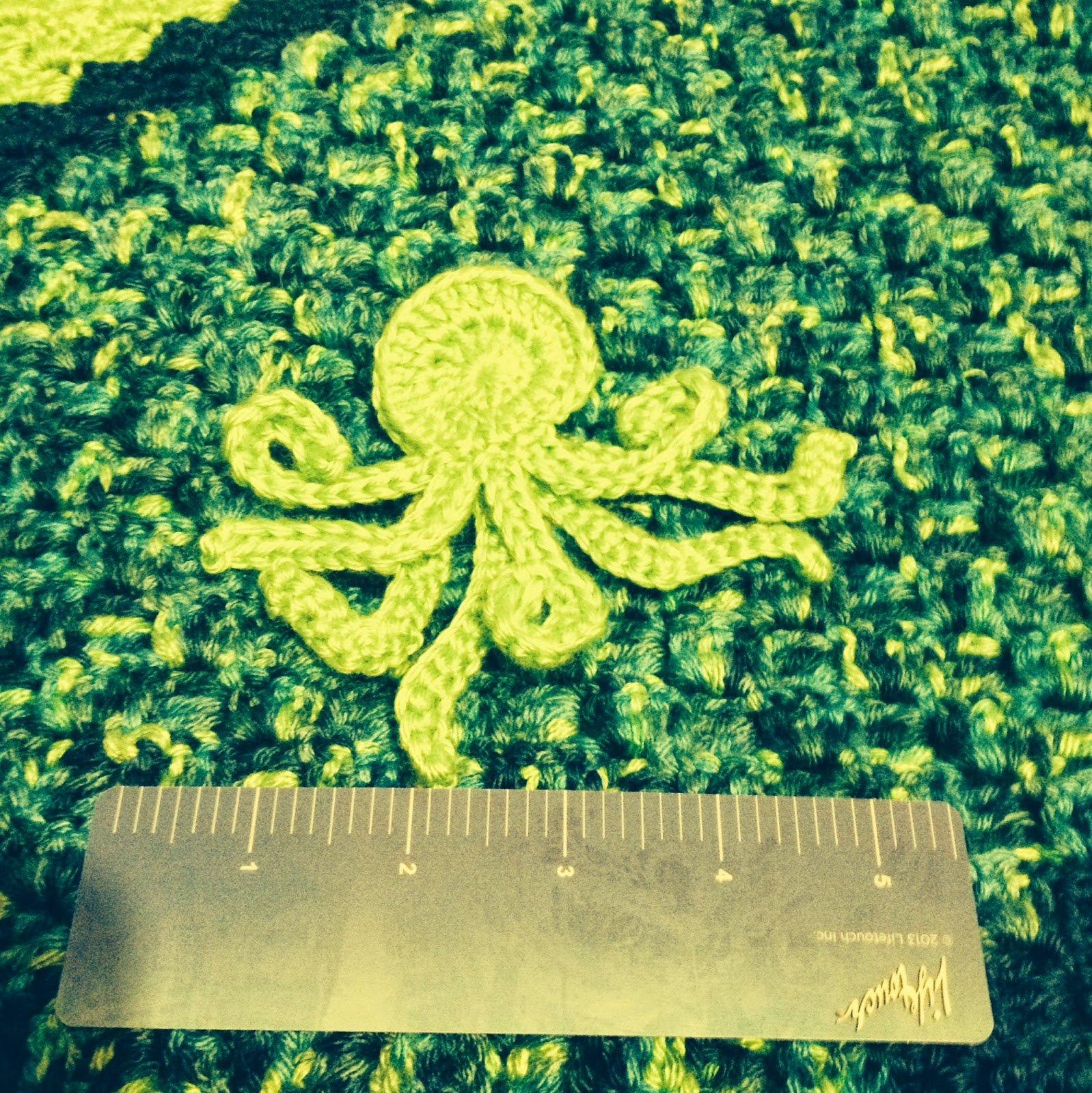8 or 4 Legged Octopus Applique ~ Manda Proell - MandaLynn's Crochet Treasures