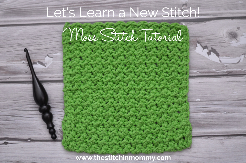 Moss Stitch Tutorial & Afghan Square by The Stitchin' Mommy