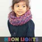 Neon Lights Infinity Scarf for Girls ~ The Stitchin' Mommy