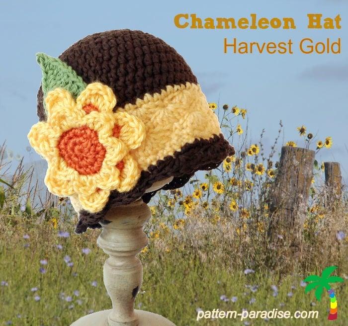 Chameleon Hat - Harvest Gold ~ Pattern Paradise