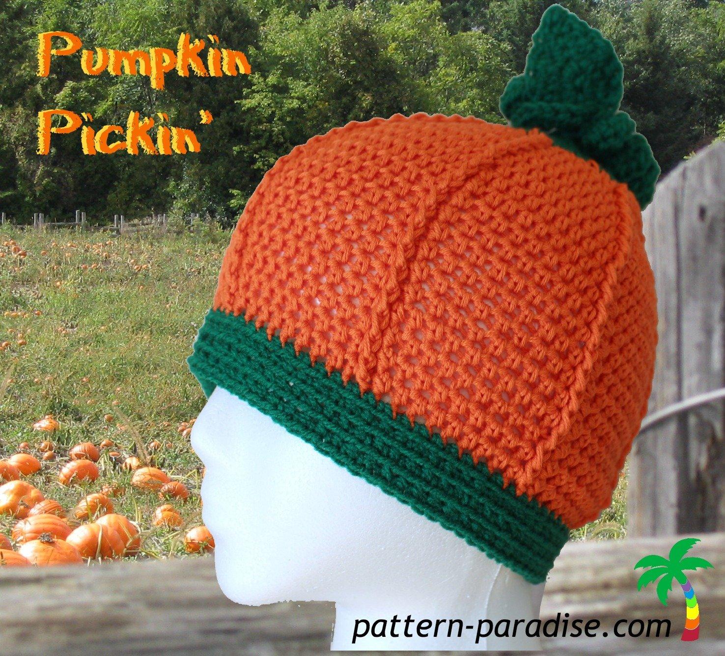 Pumpkin Pickin' Hat by Pattern Paradise