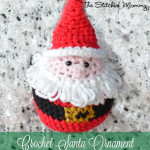 Crochet Santa Ornament ~ The Stitchin' Mommy