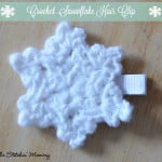 Crochet Snowflake Hair Clip ~ The Stitchin' Mommy