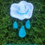 Stormy Cloud & Rain Drop Applique Set ~ Manda Proell - MandaLynn's Crochet Treasures