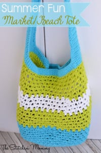 Summer Fun Market or Beach Tote ~ The Stitchin' Mommy