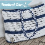 Crochet Nautical Tote ~ The Stitchin' Mommy