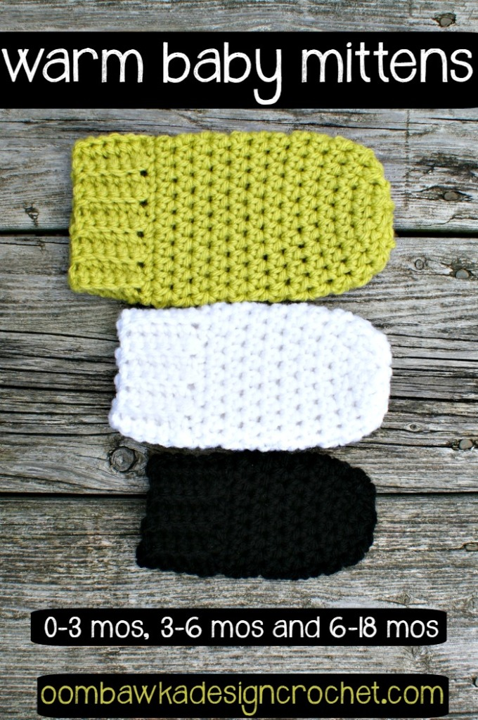 Warm Baby Mittens by Oombawka Design