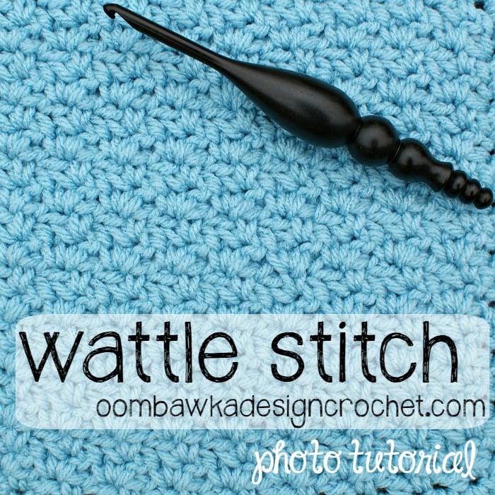 Wattle Stitch 8 Inch Square Free Crochet Pattern Tutorial