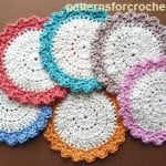 Circular Cotton Coaster by Patterns For Crochet