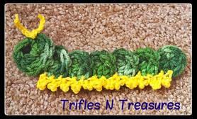 Friendly Caterpillar Applique ~ Tera Kulling - Trifles N Treasures