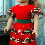 American Girl Doll Perfect Christmas Dress ~ ABC Knitting Patterns