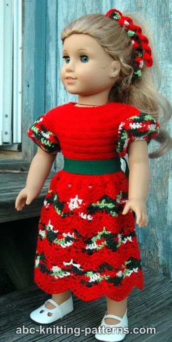 American girl doll perfect christmas dress abc knitting patterns