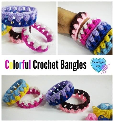 Colorful Crochet Bangles ~ Erangi Udeshika - Crochet For You