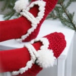 Christmas Slippers ~ DROPS Design