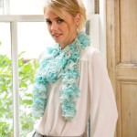 Icy Ruffle Scarf ~ Red Heart Yarns