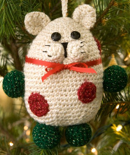 Kitty Ornament ~ Red Heart