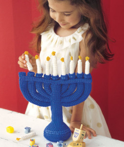Child's Menorah ~ Robyn Chachula - Red Heart