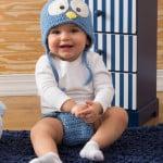 Cutie Blue Bird Hat & Diaper Cover ~ Salena Baca – Red Heart